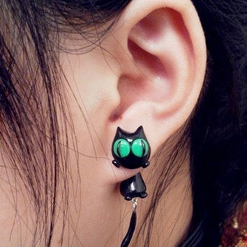 Lovely Cat Two Parts Earring