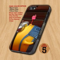 Despicable Me Minion Apple Logo- Design on Hard Case For iPhone 5 Case
