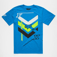 Fox Triple Threat Mens T-Shirt Heather Blue  In Sizes