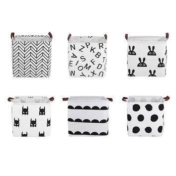 Foldable Laundry Basket Canvas Dirty Clothes Storage Barrel Kids Toy Organizer Holder Sundries Clothing Storage Pouch