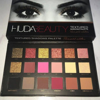 Huda 18 Color Beauty Eyeshadow Textured Palette Cosmetic Rose Gold Edition