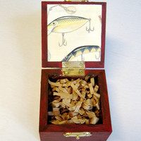 Fishing Lure Box /  Fathers Day Gift / Mens Organizer  /  Gifts for Men / Bride Groom/ Mens Ring Box