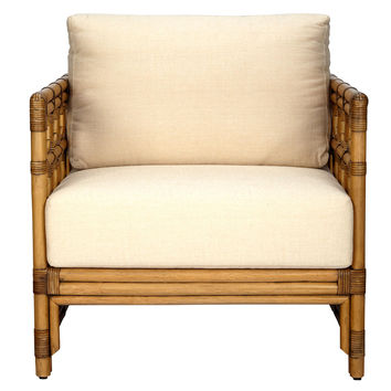 Eloise Rattan Lounge Chair, Nutmeg, Accent & Occasional Chairs