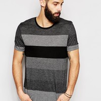 ASOS Stripe T-Shirt In Lightweight Jersey In Relaxed Skater Fit