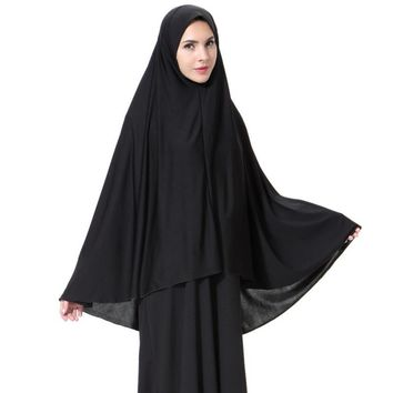 Women Black Face Cover Abaya Islamic Khimar Muslim Clothes Headscarf Robe Instant