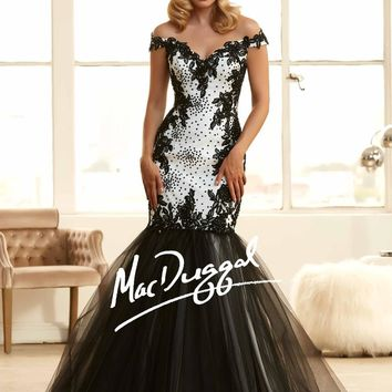 Mac Duggal Long Prom Dress Ball Gown Formal