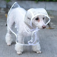 Waterproof Dog Clothes Transparent Rain Coat Pet Clothes Puppy Raincoat Hoody Clothing for Dogs XS-XL 20S1