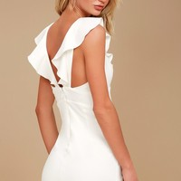 Good Life White Sleeveless Bodycon Dress