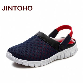 JINTOHO Unisex Casual Sandals Shoes Fashion Breathable Mesh Shoes Summer Men Sandals Cheap Men Slippers Sandals Walking Shoes