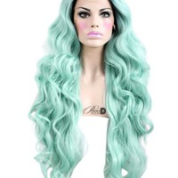 Mint Mermaid Lace Front Wig