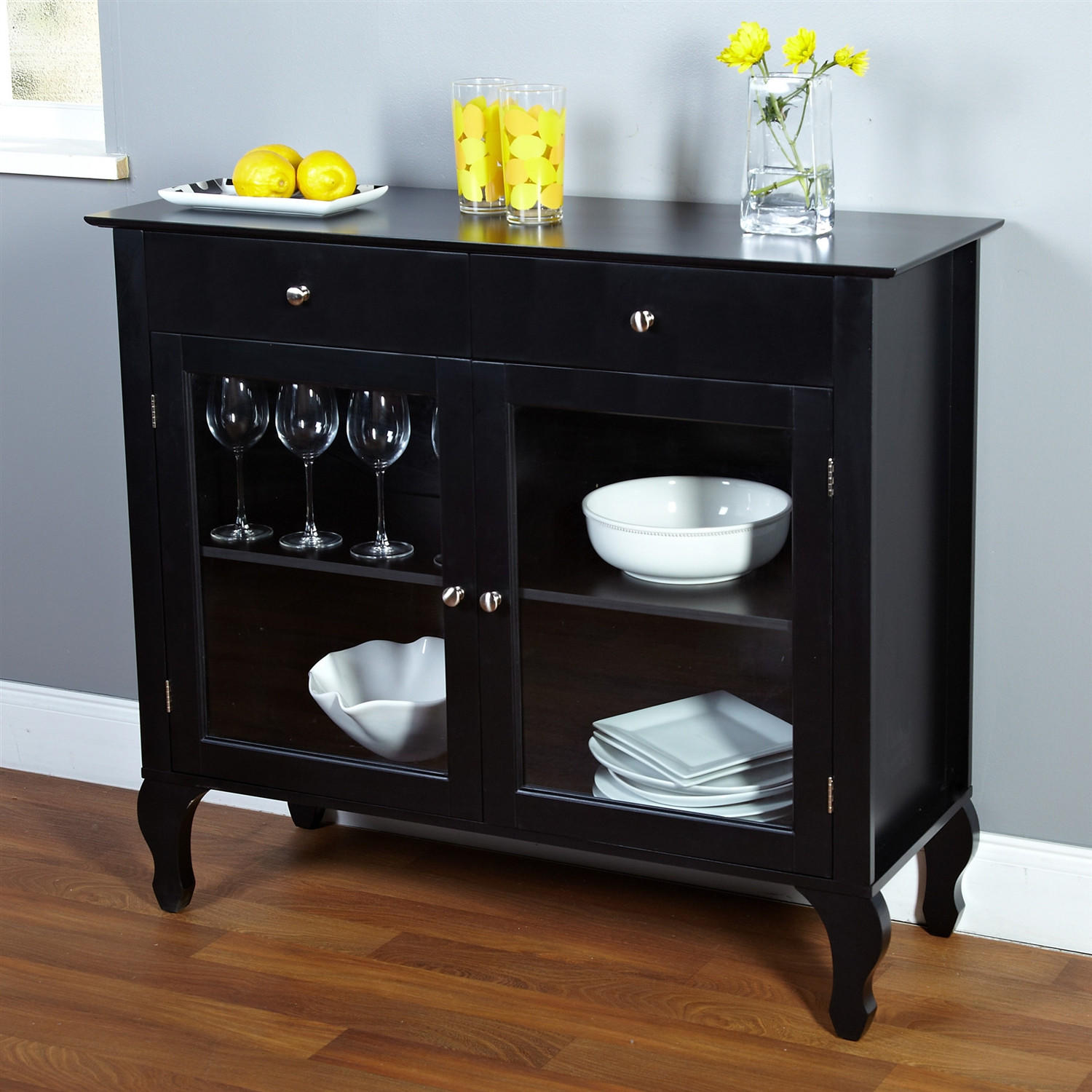 black dining room buffet sideboard server from hearts attic