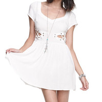 Nameless Eyelet Side Dress at PacSun.com