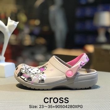 Cross Tunnel shoes Baotou thick bottom antiskid and cool towed gray kid beach shoes sandals