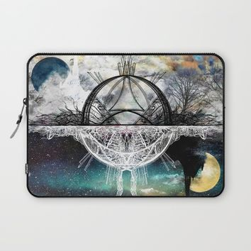 TwoWorldsofDesign Laptop Sleeve by J.Lauren