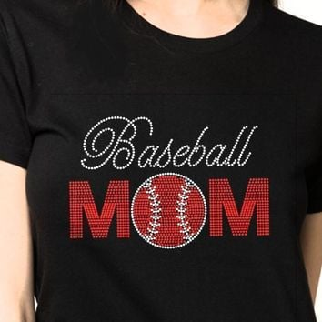 Bling T-Shirt  | Women Baseball Rhinestones - SHIRT | Shop