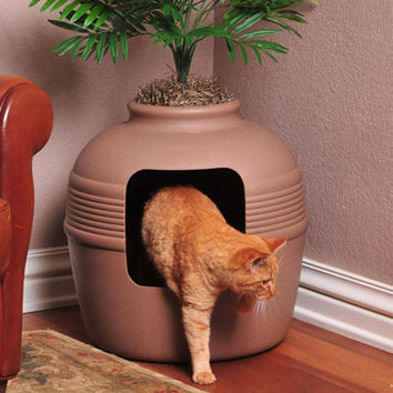 Good Pet Stuff Co. Covered Hidden Cat Litter Box - Decorative Planter