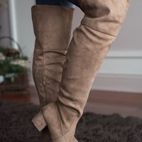 Knee High Boots ~ Taupe