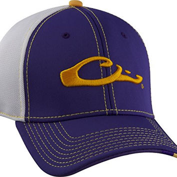 Drake Waterfowl Game Day Fitted Hat Louisana Purple & White M/L