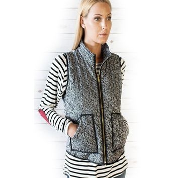 Wake Up Knit Gray Vest