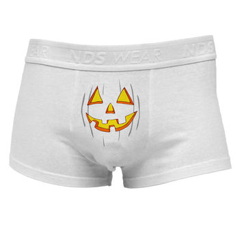 Halloween Glow Smiling Jack O Lantern Mens Cotton Trunk Underwear