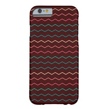 Colorful Bright Chevron Zig Zag Stripe Pattern Barely There iPhone 6 Case
