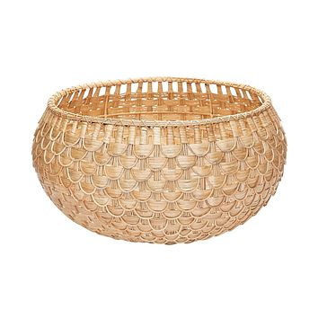 Large Fish Scale Basket In Natural