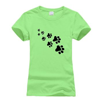 Lady cute cat paws t-shirts for Women Cotton Casual  tee shirt Tops Hipster 2019 summer new arrival t-shirts female