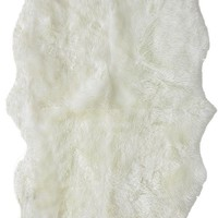 nuLOOM Hand Made Quarto Luxe Sheepskin Natural