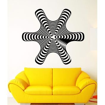 Vinyl Wall Decal Hypnosis Hypnotic Figure Art Abstract Room Decor Stickers Unique Gift (2087ig)