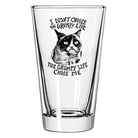 I Didn't Choose The Grumpy Life Pint Glass - Single Glass