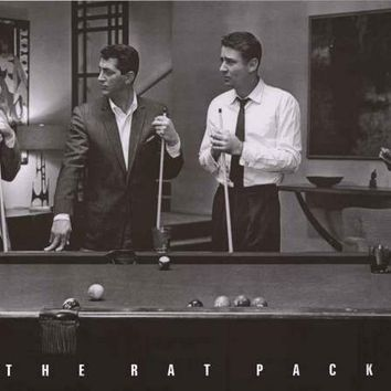 The Rat Pack Playing Pool Poster 24x36