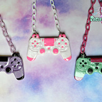 ps4 controllers necklace geeky,gamer, Soft Grunge, kawaii,soft grunge, lolita,harajuku,fairy kei