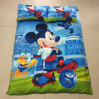 mavelous 3d mickey boys twin/single size bedding set of duvet cover bed sheet pillow case 2/3pcs kit
