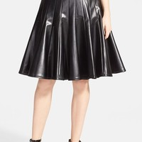 Women's MARC BY MARC JACOBS 'Edie' Faux Leather Panel Pleat Skirt,