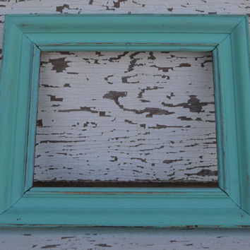 Tiffany Blue frame distressed home decor wall hangings wedding decor