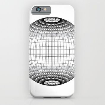 Wire Planet2 -BG white- iPhone & iPod Case by LEMAT WORKS