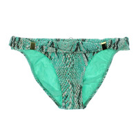 ViX Paula Hermanny Womens Snake Print Embellished Swim Bottom Separates