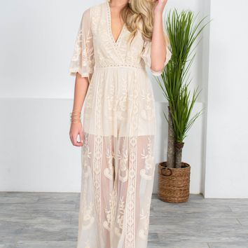 Antique Lace Ivory Jumpsuit