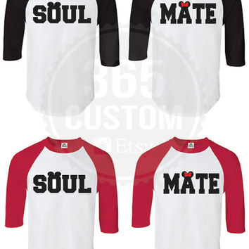Soul Mate  ( Couple Raglan tee SET OF 2 )