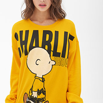FOREVER 21 Charlie Brown Sweatshirt from Forever 21
