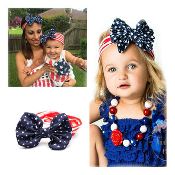 Toddler Girls Kids Baby Cute Hair Bow Band Headband Head Wrap Hair Accessories