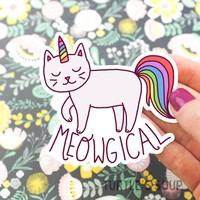 Meowgical Unicorn Cat Vinyl Sticker