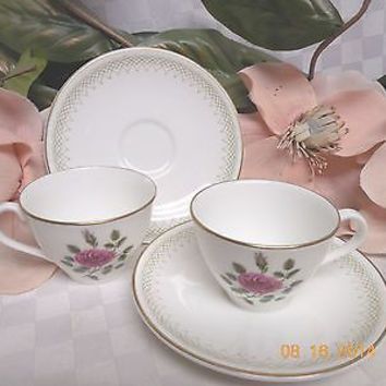 Royal Doulton, China  Dinnerware Sweetheart Rose, pattern #H4936 Demitasse x 2