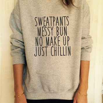 Letter Printed Causal Sweater  B0014069
