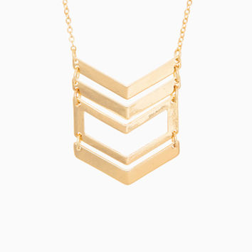 DailyLook: Chevron Cutout Necklace