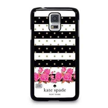 KATE SPADE NEW YORK FLORAL POLKADOTS Samsung Galaxy S5 Case Cover