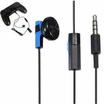 Hot Selling 120cm 3.5mm Jack Gaming Controller Headset Earphone With MIC ON OFF Control For Sony For PS4 Play Headphone