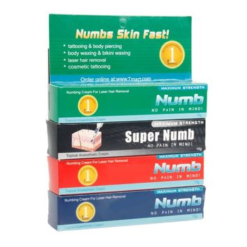 4pcs Topical Anesthetic Cream Tattoo Numb Set