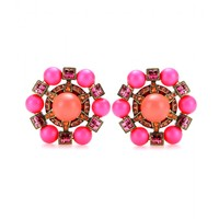 CRYSTAL-EMBELLISHED CLIP-ON EARRINGS