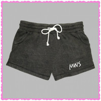 Embroidered Rally Fleece Shorts. Super cute and comfy. Initials or Sorority